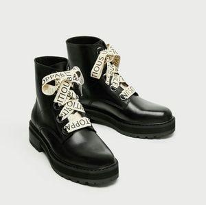Zara combat boots